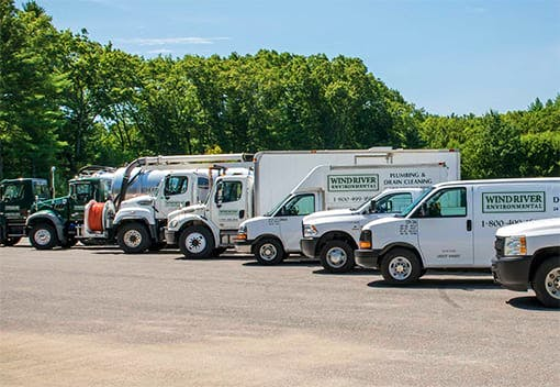 Fleet of Wind River vehicles