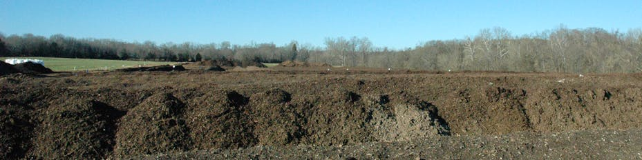 Compost Yard at Stanley Earth Farms